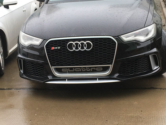 Front Bumper Grille With Fog Cover For Audi A6 Rs6 C7 Tuning Grille Include  Fog Lamp Cover - Buy Bumper Grille With Fog Cover For Audi A6 Rs6