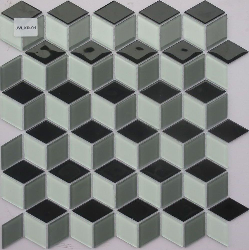 ceramic glass mosaic tile waterjet marble mosaic tile