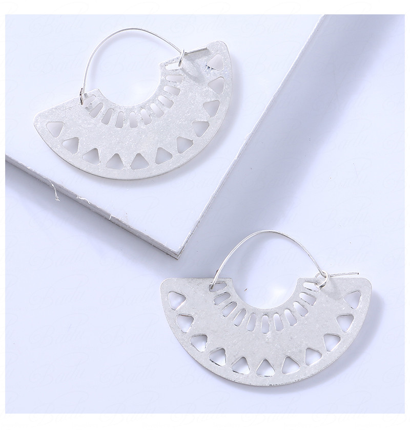 HTB1V3PNbzgy uJjSZK9q6xvlFXaN - Badu Big Hollow Hoop Earring Semi-circle Vintage Declaration Ethnic Earrings Geometry Fashion Jewelry Punk Girl