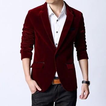 Mens Fashion Designer Wedding Groom Tuxedo Velvet Dinner Coat Jacket