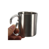 New products 2017 direct buy china stainless steel Carabiner Mug Portable with D-Ring Carabiner Hook Handle for Outdoor camping