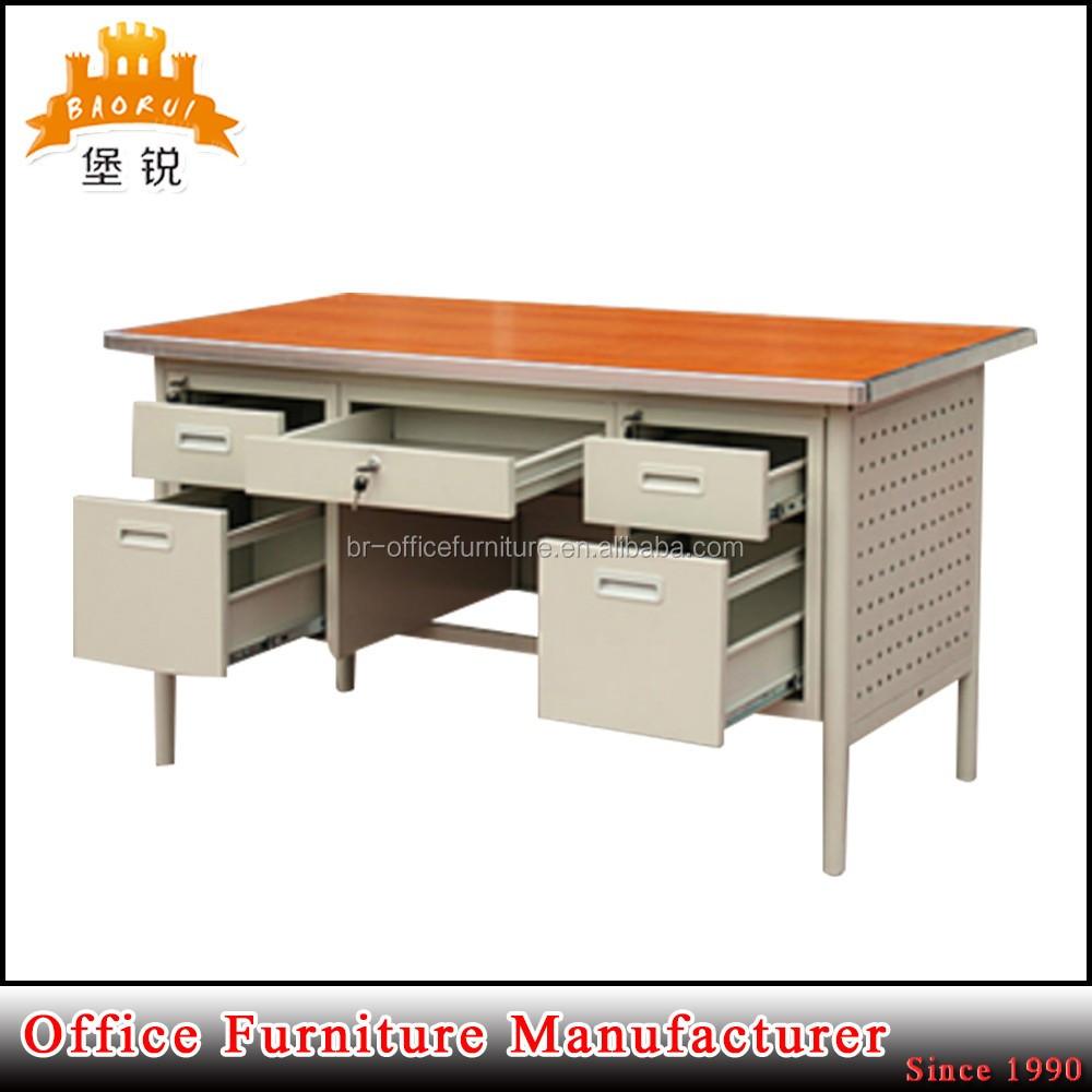 Mdf Top Steel Body Metal Office Computer Table - Buy Computer ...