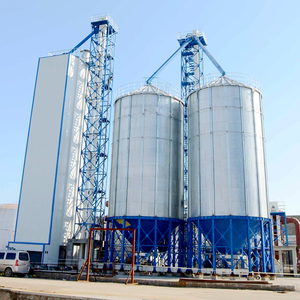 Large capacity galvanized feed silo for animal feed pellet