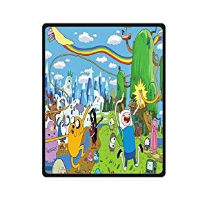 SOFTKIITY Blankets Design Adventure Time Blanket Fashion Warm Cozy Soft Sofa Bed Blankets Throws Blankets 58X80 Inches (Large)