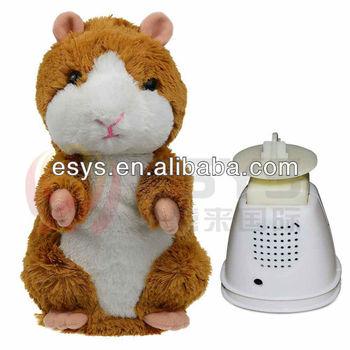 Funny Tone Talking Cat Talking Animal Toys Speaking Hamster Plush