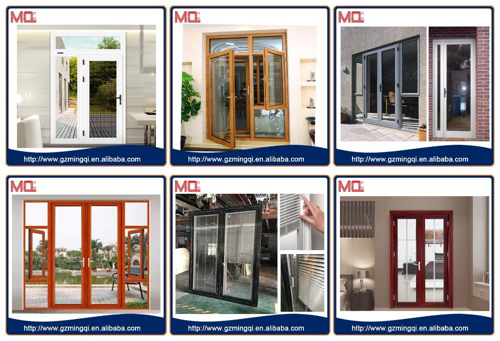 Aluminum glass exterior door with opening window buy for Front door with opening window