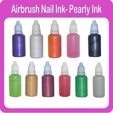 Tijdelijke Airbrush Pearly Nail <span class=keywords><strong>Inkt</strong></span> 11 Verschillende <span class=keywords><strong>kleuren</strong></span> Beschikbaar