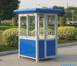 steel frame news stand prefab guard house