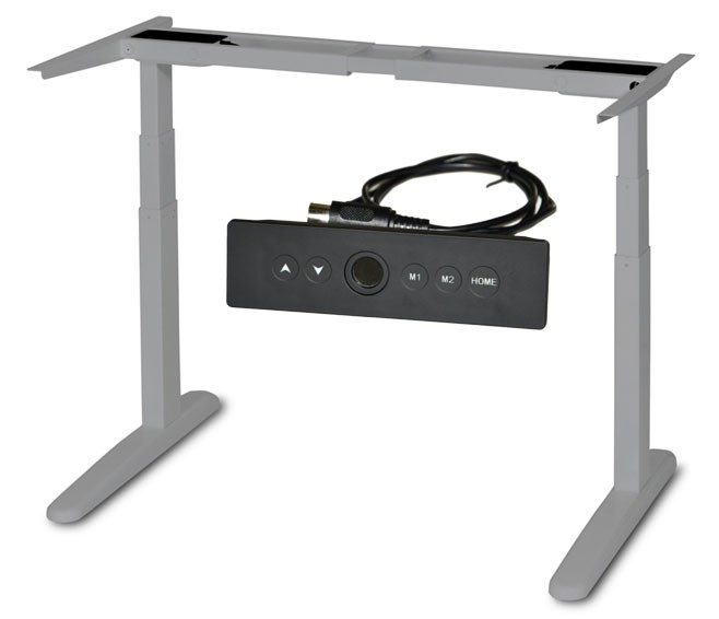 MaiLink Electric Sit Standing Office Table&Two Height Adjustable Metal Desk Frame With App Control By Bluetooth