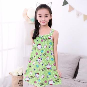 253e5a13f75d Girl Kids Pyjama Nightie Dress Cartoon Sleep Wear Print Nightgown ...