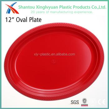 Disposable Ps/pet Material Plastic 12 Inch Plastic Plate 12\