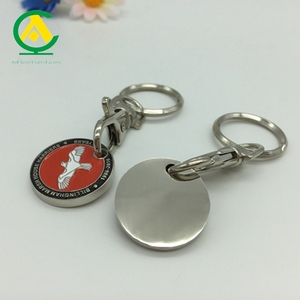 Peace Bird Token Coin Keychain, Metal Euro Coin Holder, Personalised Trolley Coins