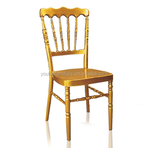 Real Quality Gold Metal Iron Chair Napoleon