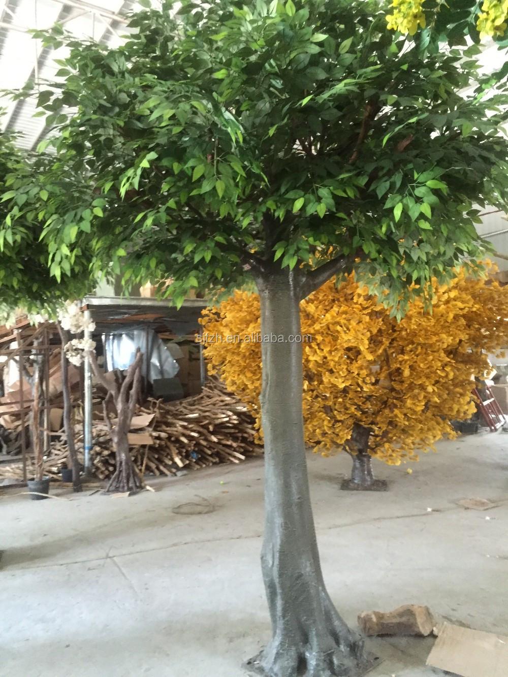 grand ext rieur et int rieur d coratif artificielle ch ne arbre branches et feuilles. Black Bedroom Furniture Sets. Home Design Ideas