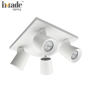 220v four head gu10 20w rotating led spotlight