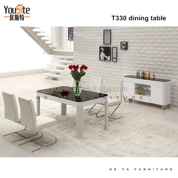 Alibaba China Kitchen Furnitures Mdf Modern Dining Table T330