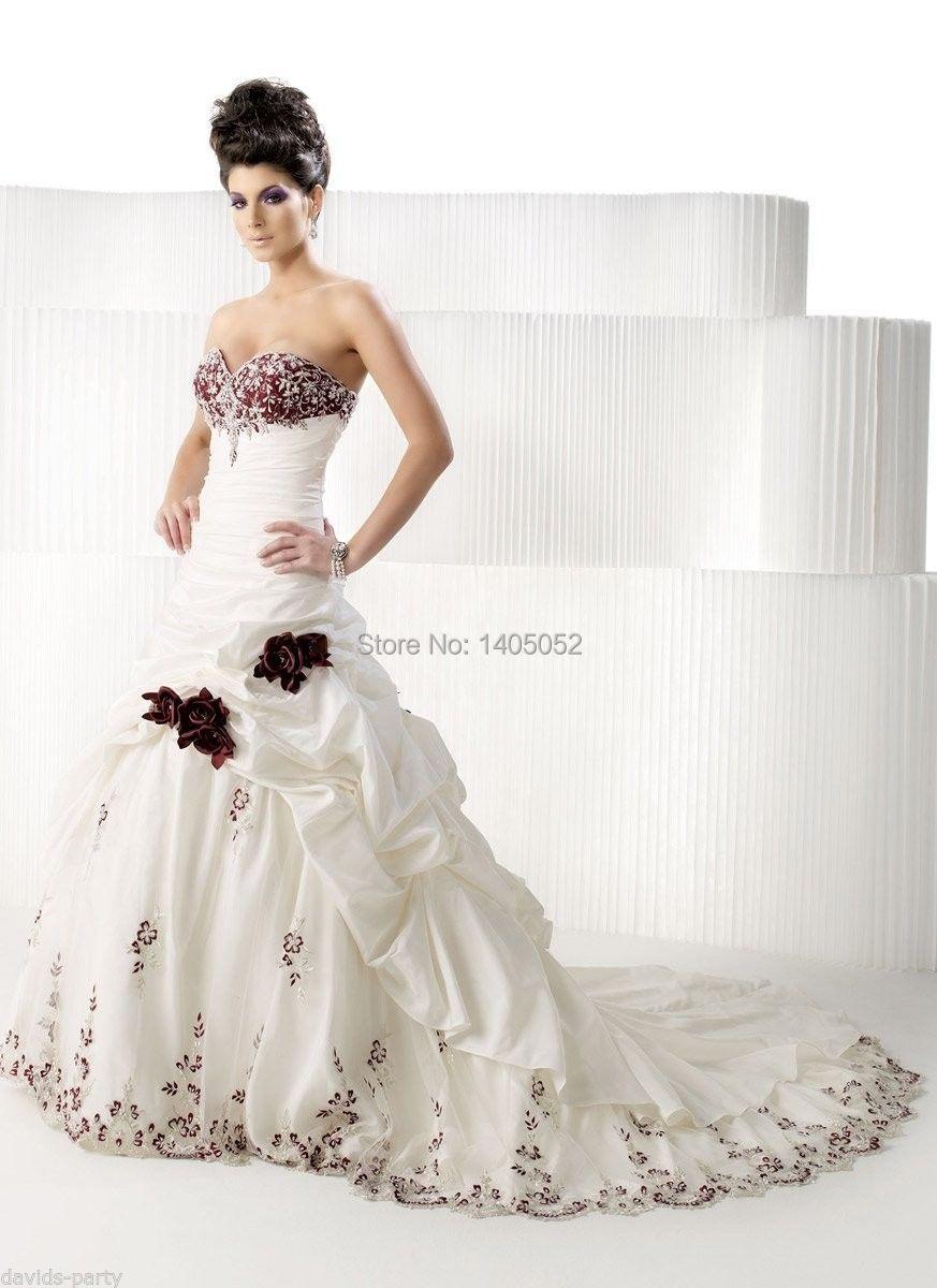 Red Ivory Wedding Dresses