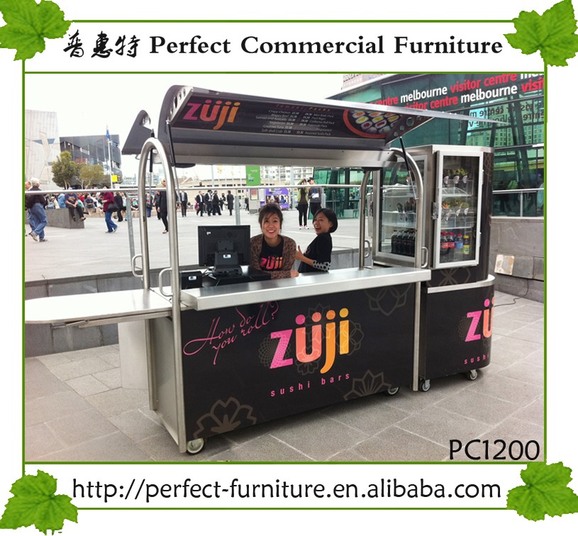 2016 Small Food Carts Flexible Pancake BBQ Grill Crepe Cart For Sale
