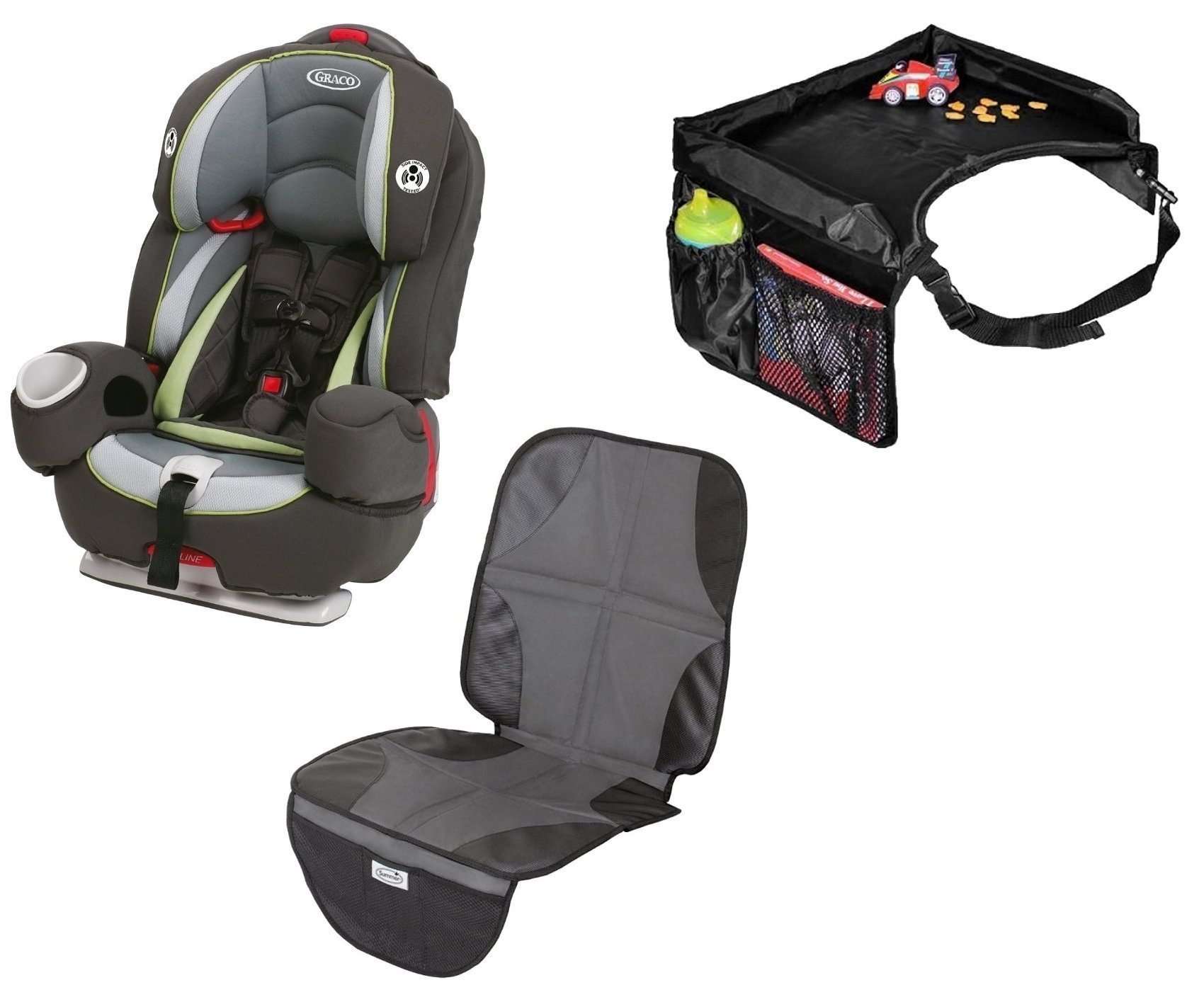 Graco Argos 80 Elite 3 In 1 Car Seat With Snack Tray Mat Go Green