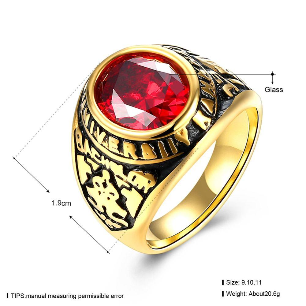 Red rings for men best photo
