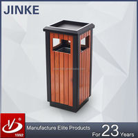 Outdoor Wood Plastic Composite Trash Bin/ Trash Can/ Dustbin
