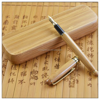 Eco friendly recycled pen engraved bamboo fountain pen