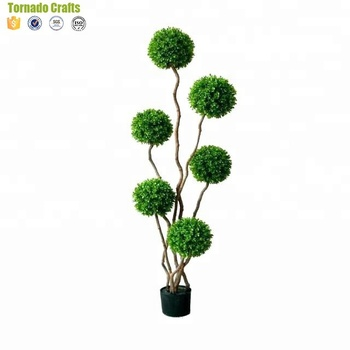 Customized Cheap 8 Heads Artificial Topiary Trees Boxwood Topiary