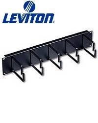 Leviton 49253-BCM Five-Ring Horizontal Patch Cord Organizer 2RU 4-inch D-Rings