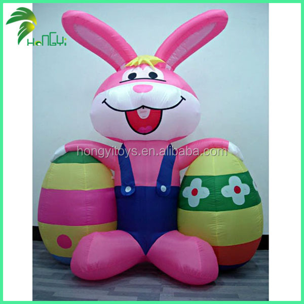 Hongyi Inflatable Easter Egg Custom Inflatable Rabbit With Easter Egg For Decoration
