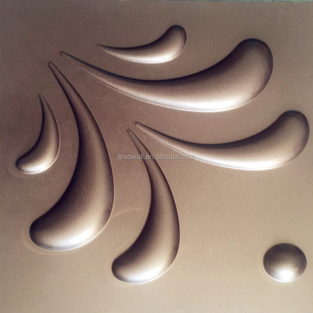 Washable 3D deep embossed PVC wallpapers/wall coating