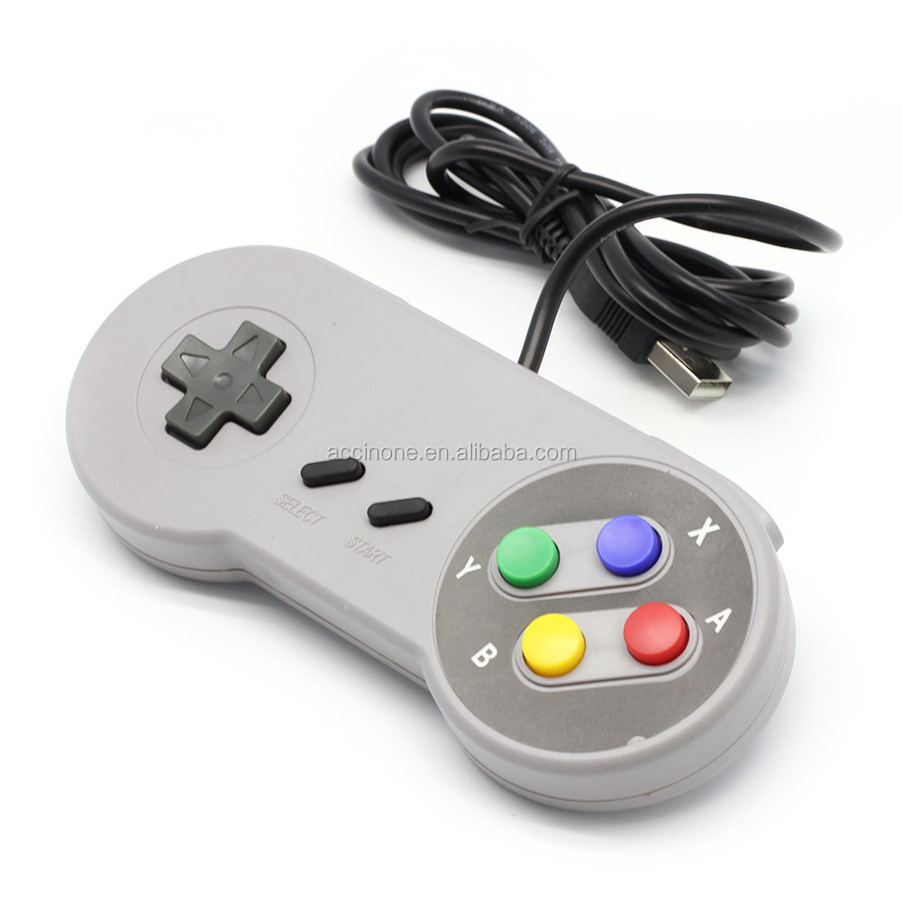 Wholesale Super Classic Wired Retro USB Controller Gamepad Joypad for PC MAC Retro Super for SNES game Controllers FAST SHIP