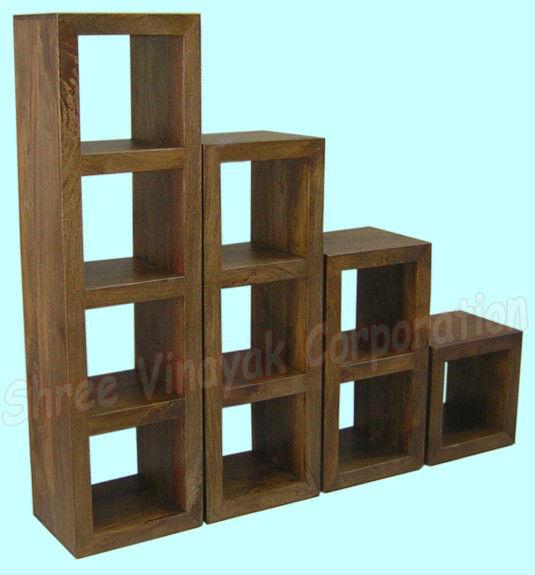 Cube Bookcase Mango Wood Furniture Home Indian Product On Alibaba