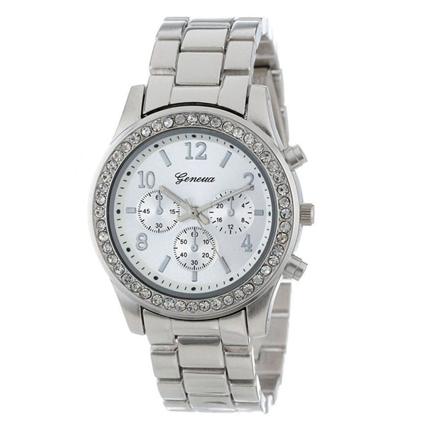 Watches For Women,POTO Quartz Womens Waches Clearance On Sales Faux Chronograph Plated Classic Diamond Watches Crystal Rhinestone Analog Stainless Steel Watch Ladies Wristwatch