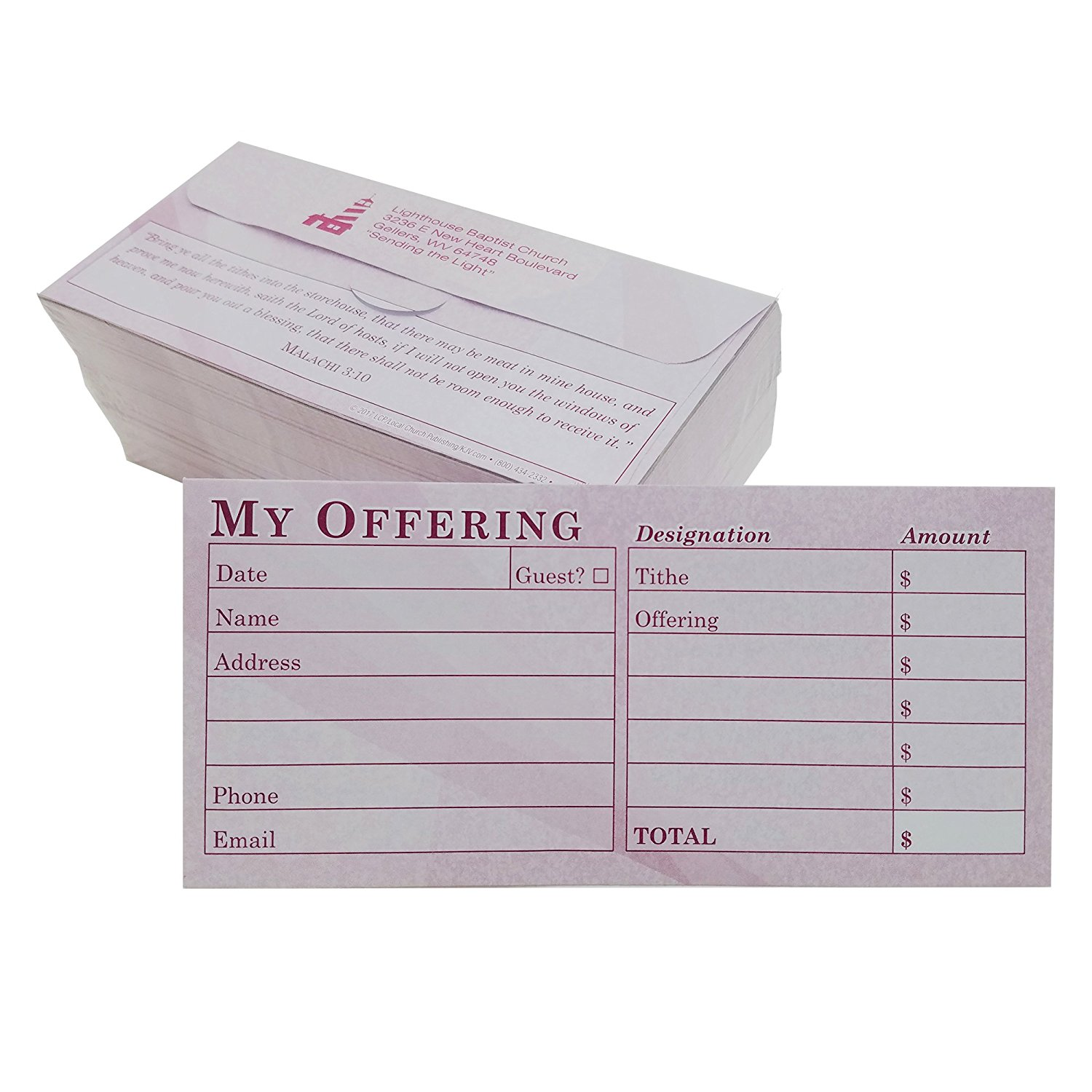 Get Quotations CUSTOM Church Offering Tithe Donation Envelopes Burgundy Easy Open Tab Blank