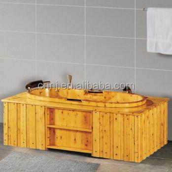 Cedar Round Wooden Bathtub (018A)