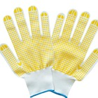 Brand MHR pvc dotted working gloves/teflon gloves