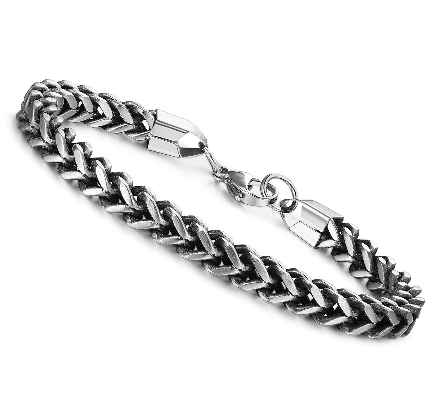 Jstyle Stainless Steel Bracelet for Mens Link Bracelet Jewelry Cool Franco Bracelets for Boys 8-9 Inches