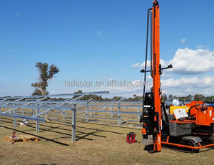 solar farm ground mounting pile driving rack solutions