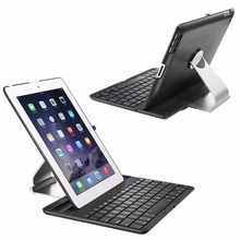 360 Swivel Rotating Bluetooth Keyboard Smart Flip Case Cover Stand For iPad 2/3/4(Custom)