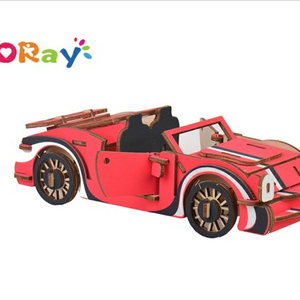2019 latest Kids Building Wooden Model 3D Funny Puzzle Supercar model