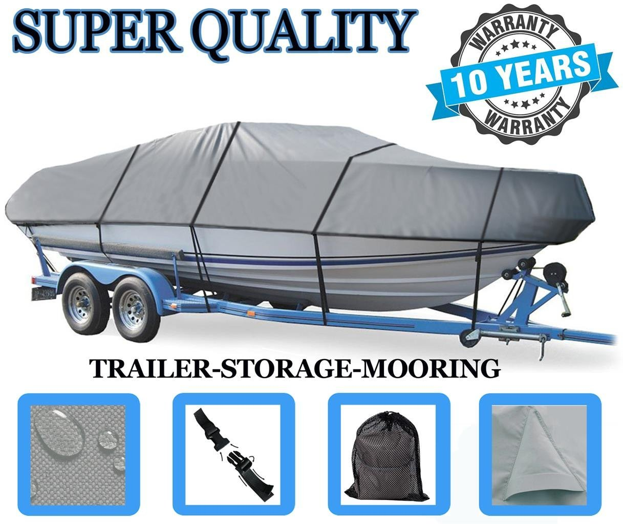 SBU BOAT COVER FOR GENERATION III G3 HP 190 2002 Heavy-Duty Great Quality