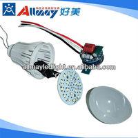 E27 Plastic Cover 4w Motion/microwave Sensor Led Light Bulb With ...