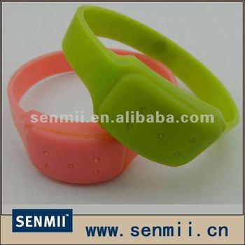 Green Pink Color Silicone Citronella Oil Anti Mosquito Bracelets