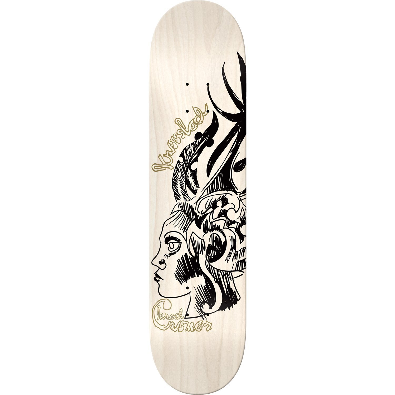 Krooked Brad Cromer Siren Deck 8.38 Assembled as COMPLETE Skateboard