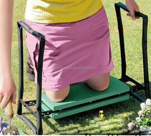 Portable Garden Folding Kneeler with Foam pad Padded Stool