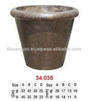 Antique Cement flower pots for home and garden