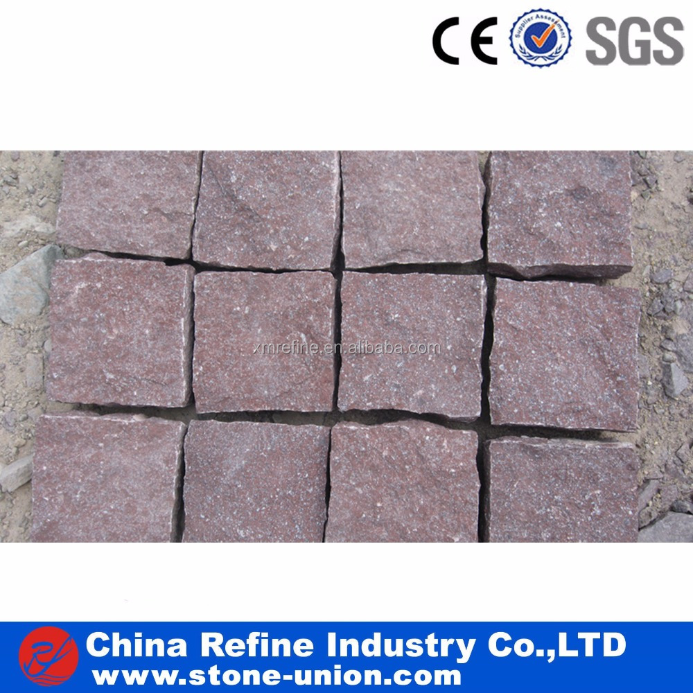 Red porphyry granite paver stone with cheap price