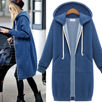 European and American trade sweater 2016 autumn and winter women's boutique new long-sleeved hooded cashmere coat ladies