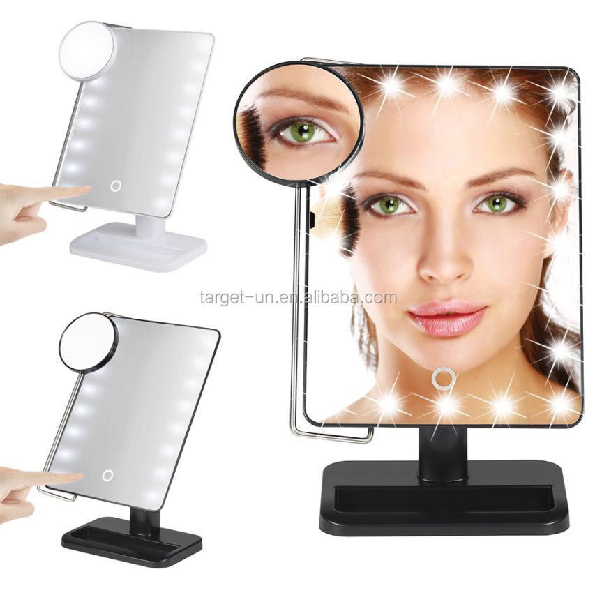 pilas led maquillaje escritorio espejo de maquillaje con luz led compone el espejo
