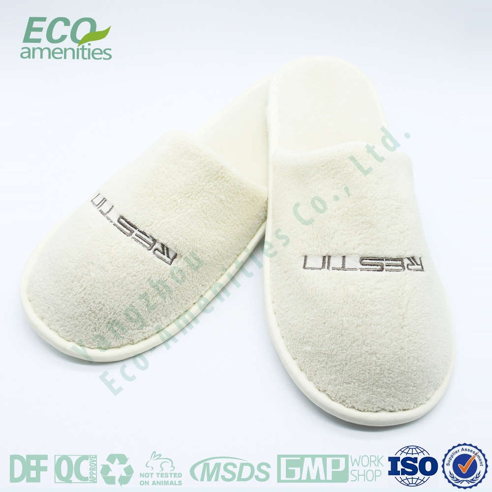 2017 eco amenities custom luxury hotel supplies slippers men rubber Export to USA SPA